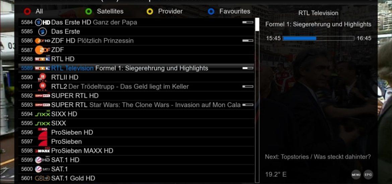 اضافة ملف قنوات iptv m3u playlist للمشاهدة علي الرسيفر واجهزة الاستقبال الرقمي DVB